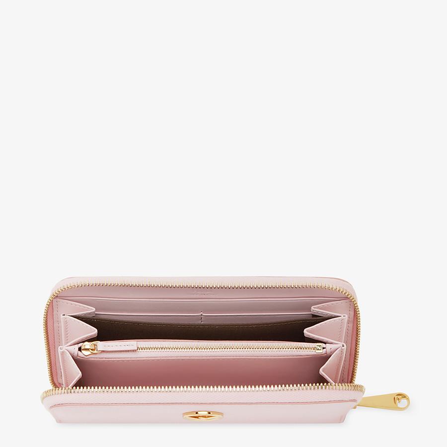 FENDI ZIP-AROUND - Pink leather wallet - view 4 detail