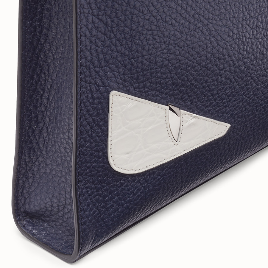 FENDI CLUTCH - Blue leather pochette - view 5 detail
