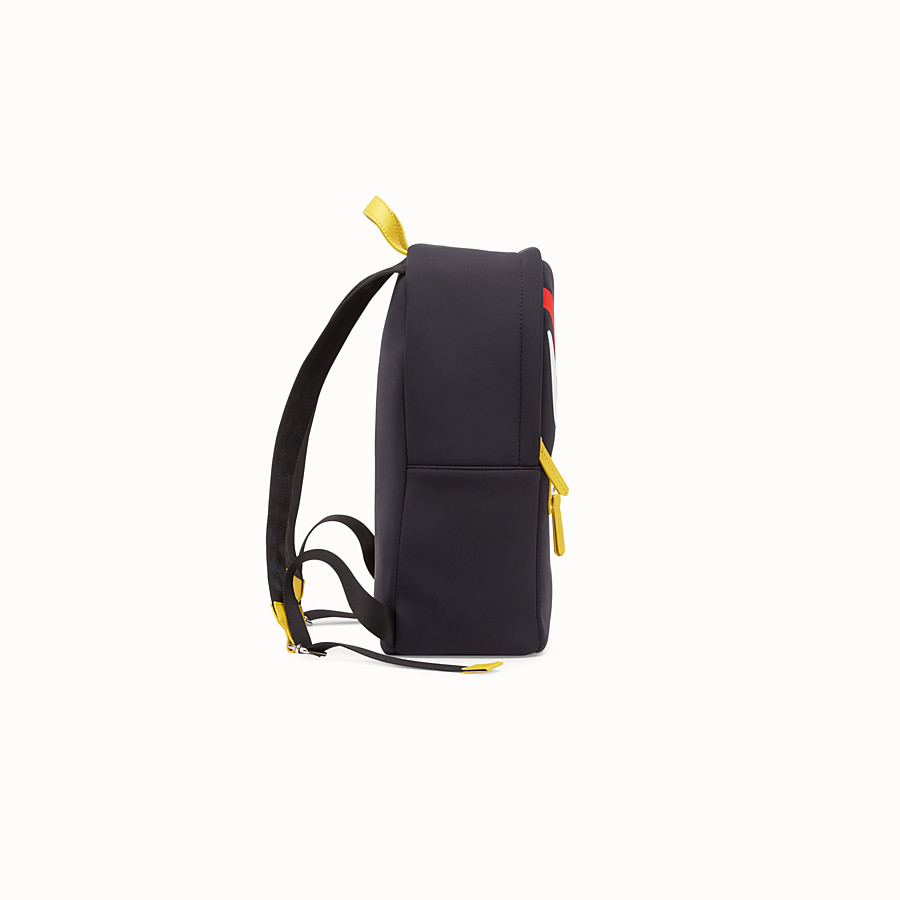 FENDI BABY BACKPACK - Black and yellow backpack - view 2 detail