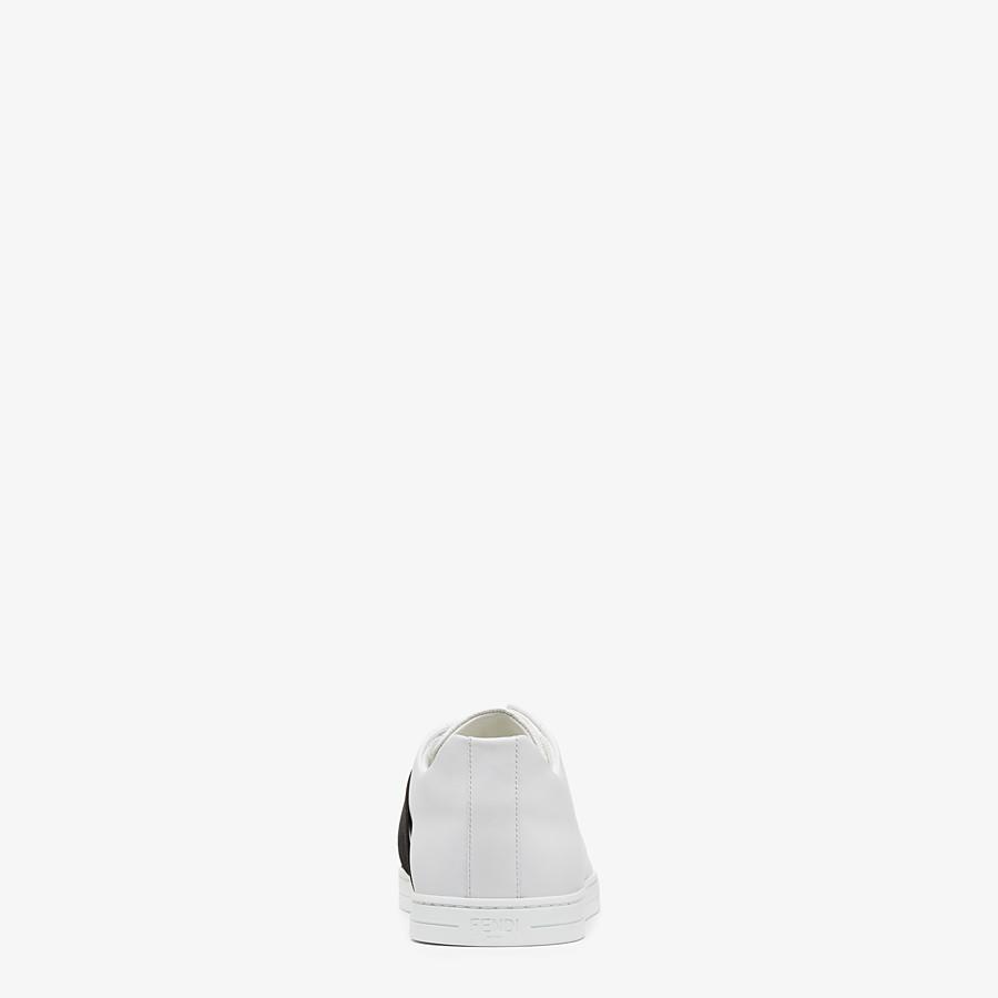 FENDI SNEAKERS - White leather slip-ons - view 3 detail