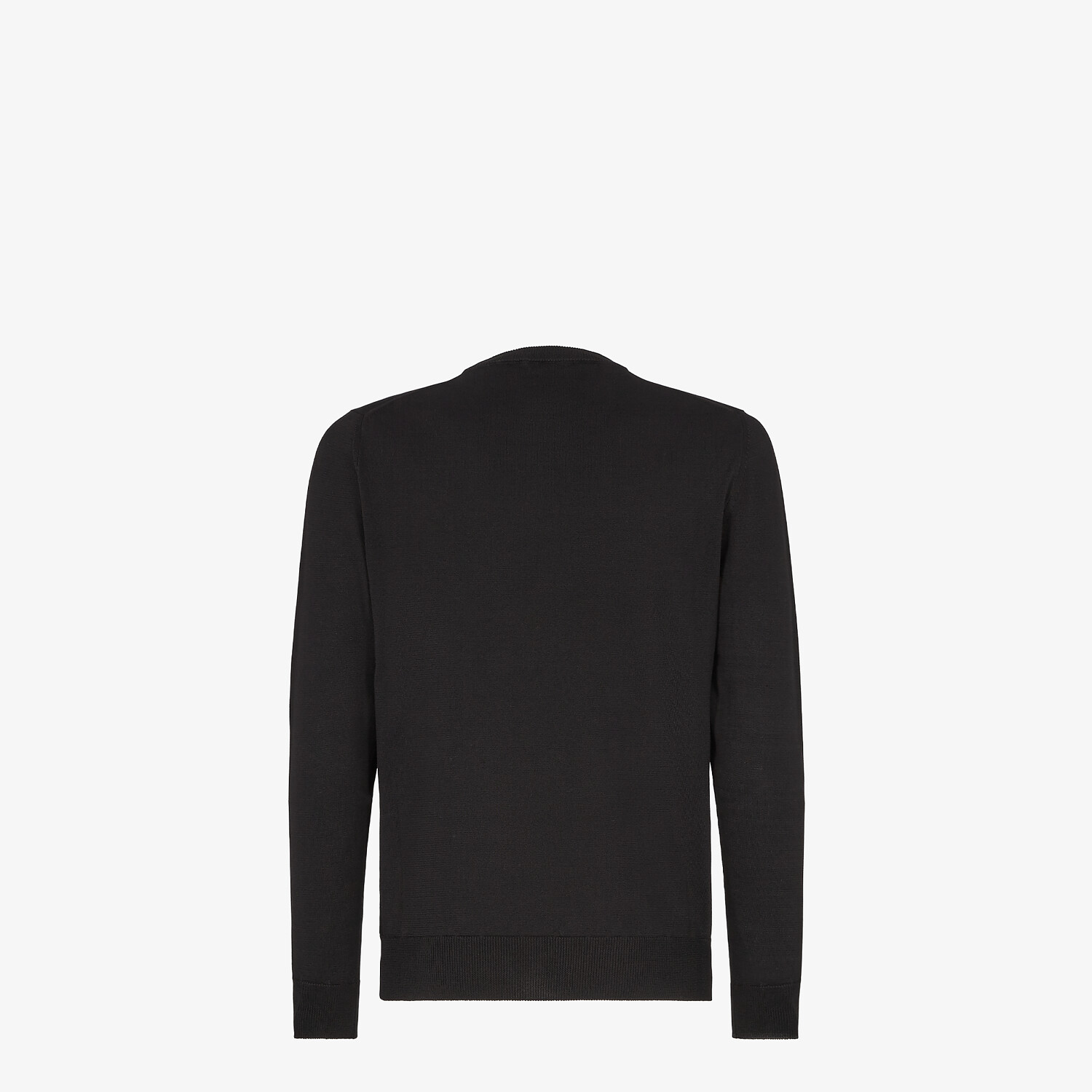 FENDI SWEATER - Black cotton sweater - view 2 detail