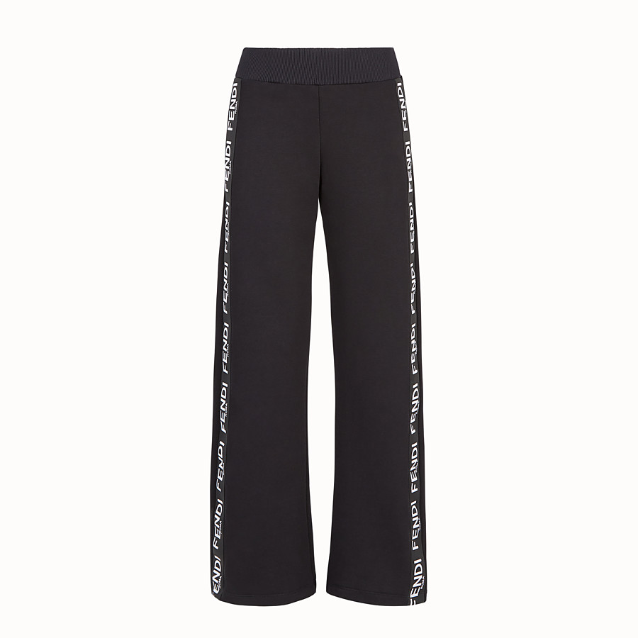 FENDI PANTS - Black fabric jogging pants - view 1 detail