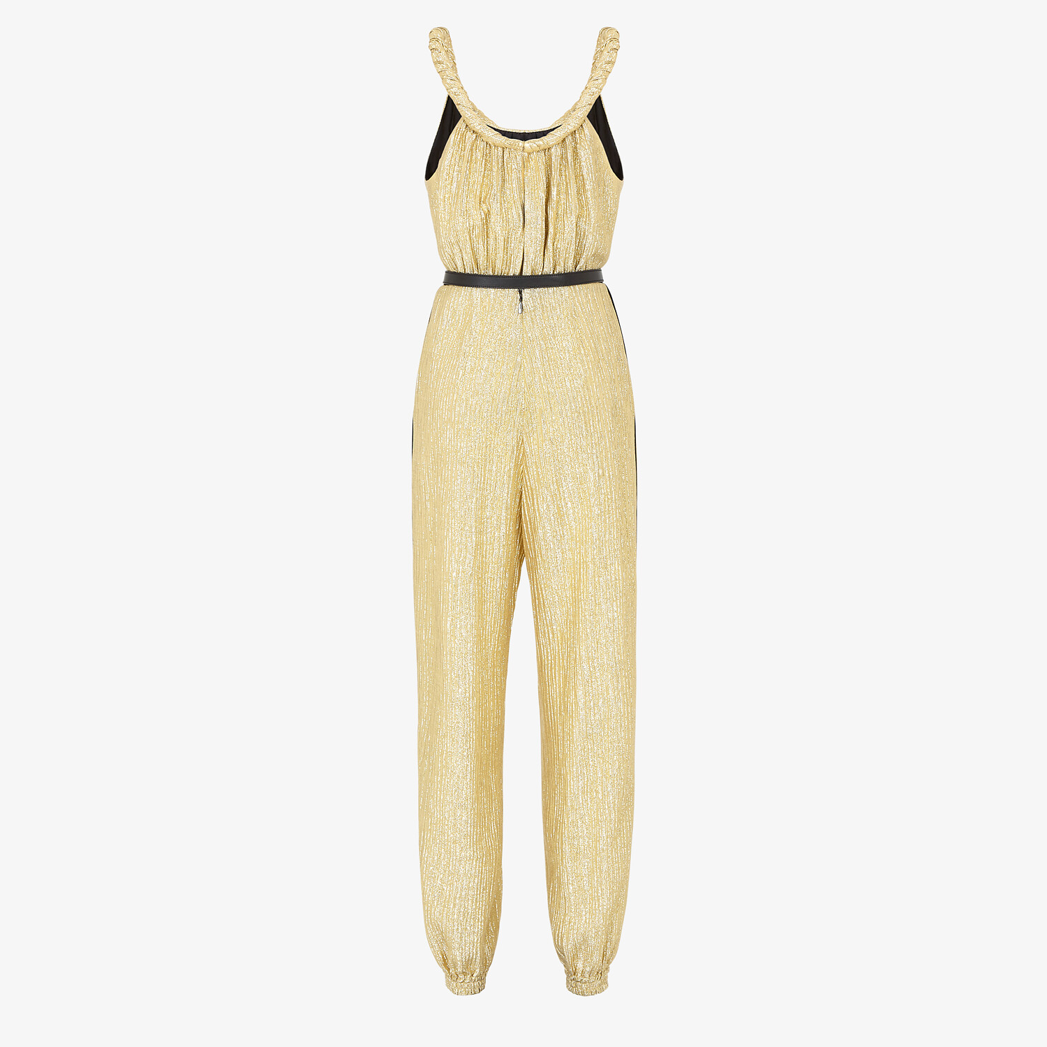 FENDI JUMPSUIT - Gold Lurex jumpsuit - view 2 detail