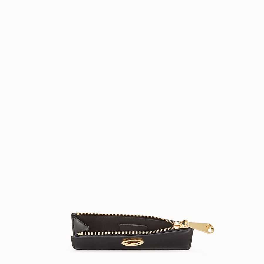 FENDI CARD POUCH - Black leather pouch - view 4 detail