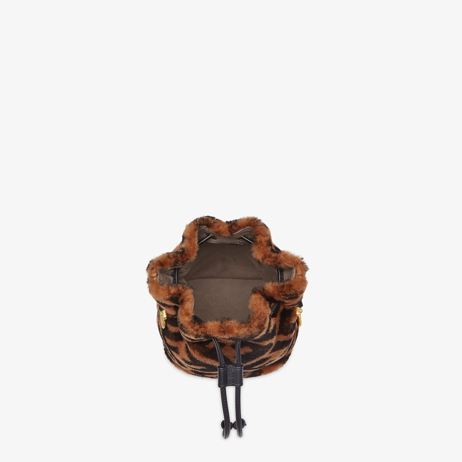 FENDI MON TRESOR - Mini-bag in brown sheepskin - view 5 detail