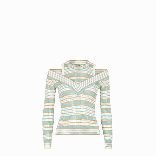 FENDI PULLOVER - Multicolour silk jumper - view 1 small thumbnail