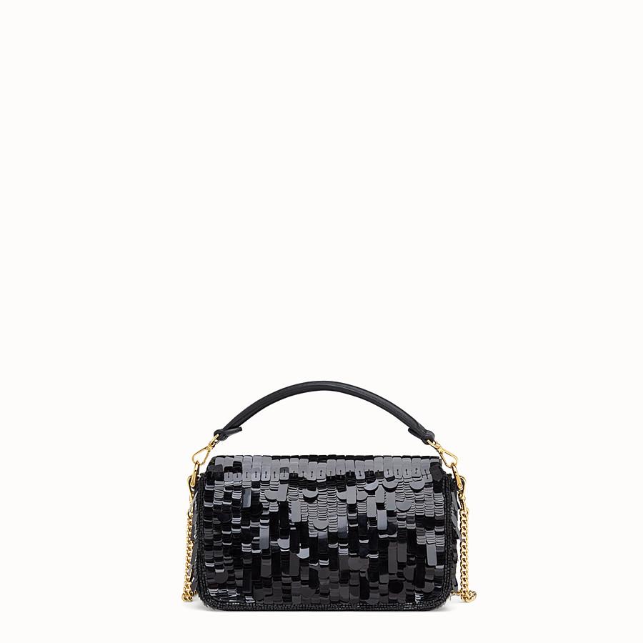 FENDI MINI BAGUETTE - Black sequin minibag - view 4 detail