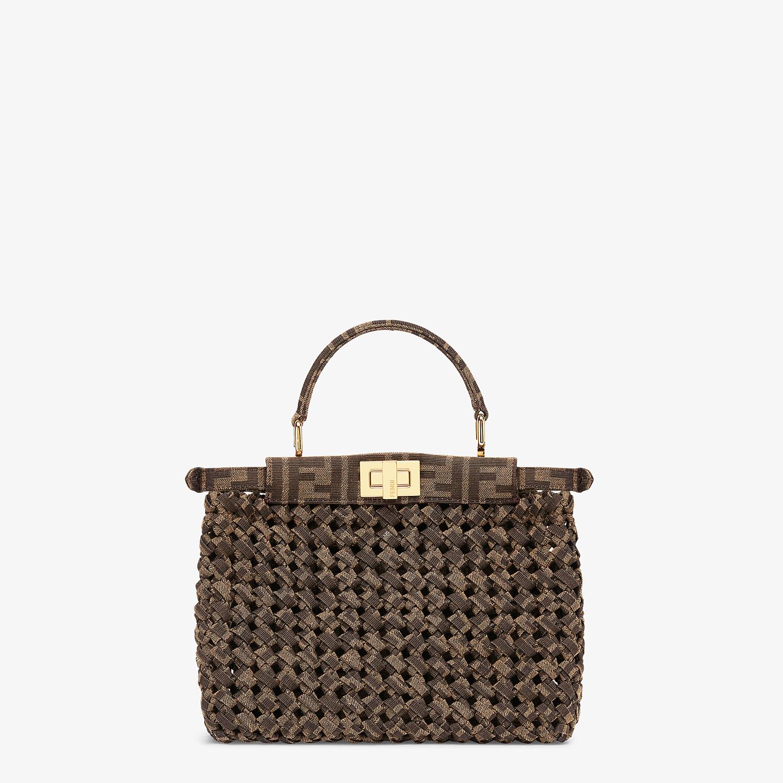 FENDI PEEKABOO ICONIC MINI - Jacquard fabric interlace bag - view 4 detail