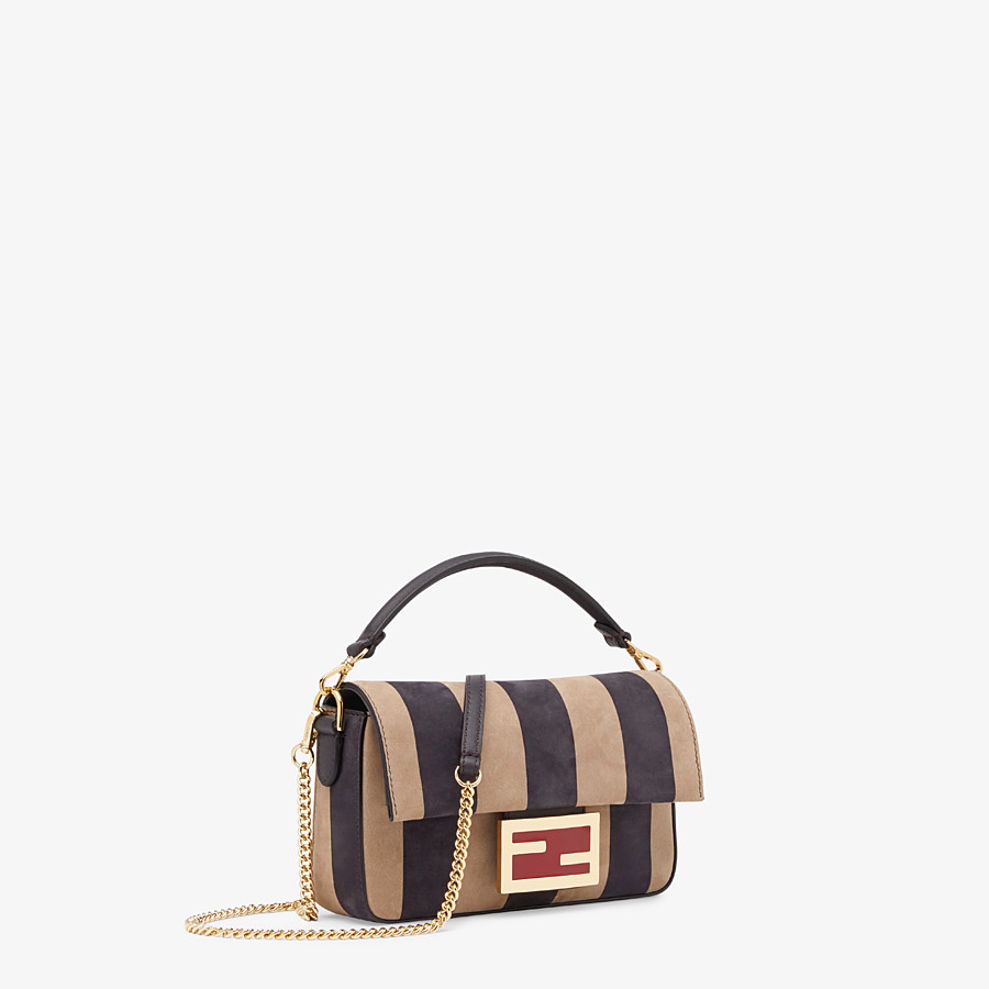 FENDI BAGUETTE - Brown nubuck leather bag - view 2 detail