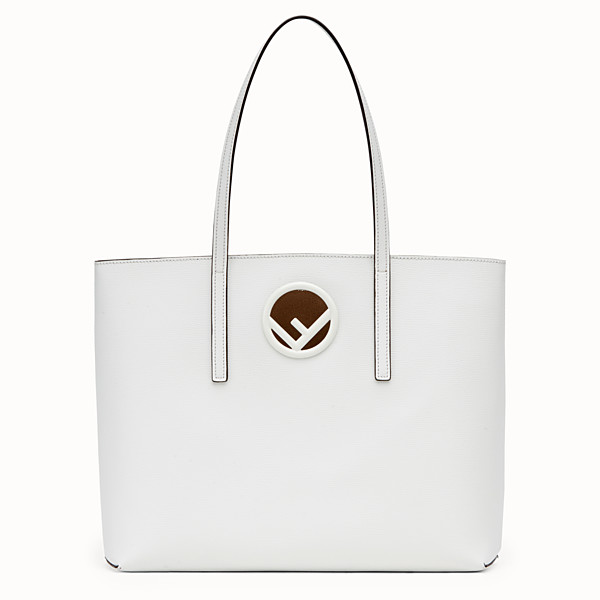 FENDI SHOPPING LOGO - White leather shopper bag - view 1 small thumbnail
