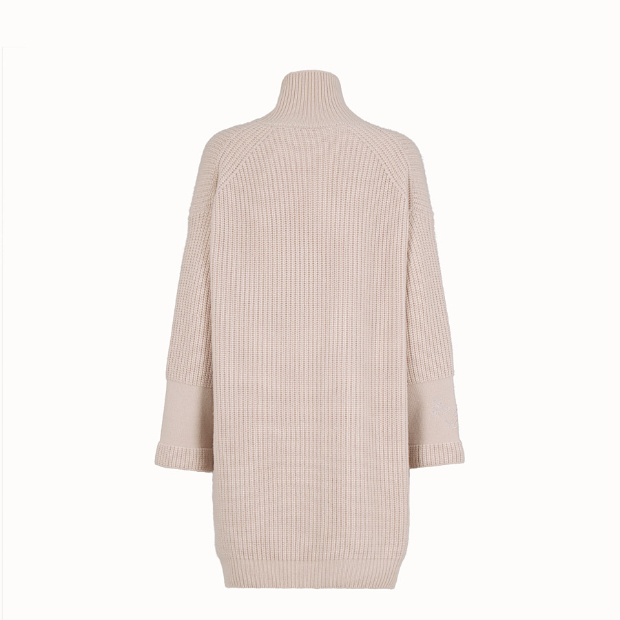 FENDI DRESS - Pink cashmere dress - view 2 detail