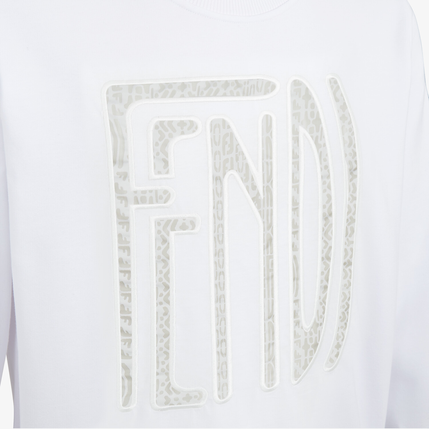 FENDI SWEATSHIRT - Fendi X Anrealage cotton sweatshirt - view 4 detail