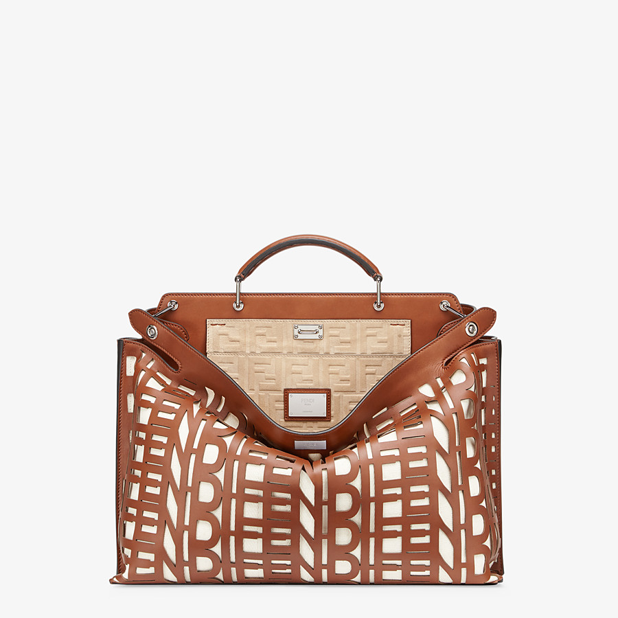 FENDI PEEKABOO ICONIC ESSENTIAL - Brown leather bag - view 1 detail