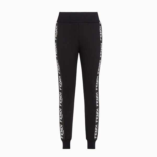 FENDI TROUSERS - Black fabric jogging trousers - view 1 small thumbnail