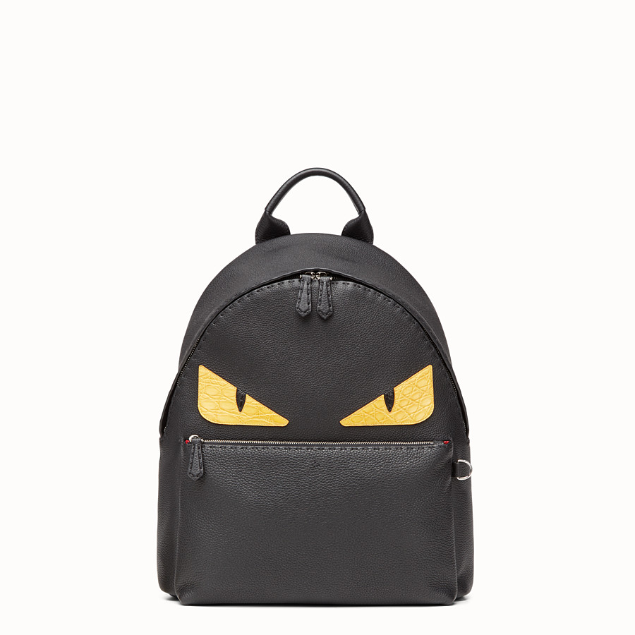 FENDI BACKPACK - Black leather handbag - view 1 detail