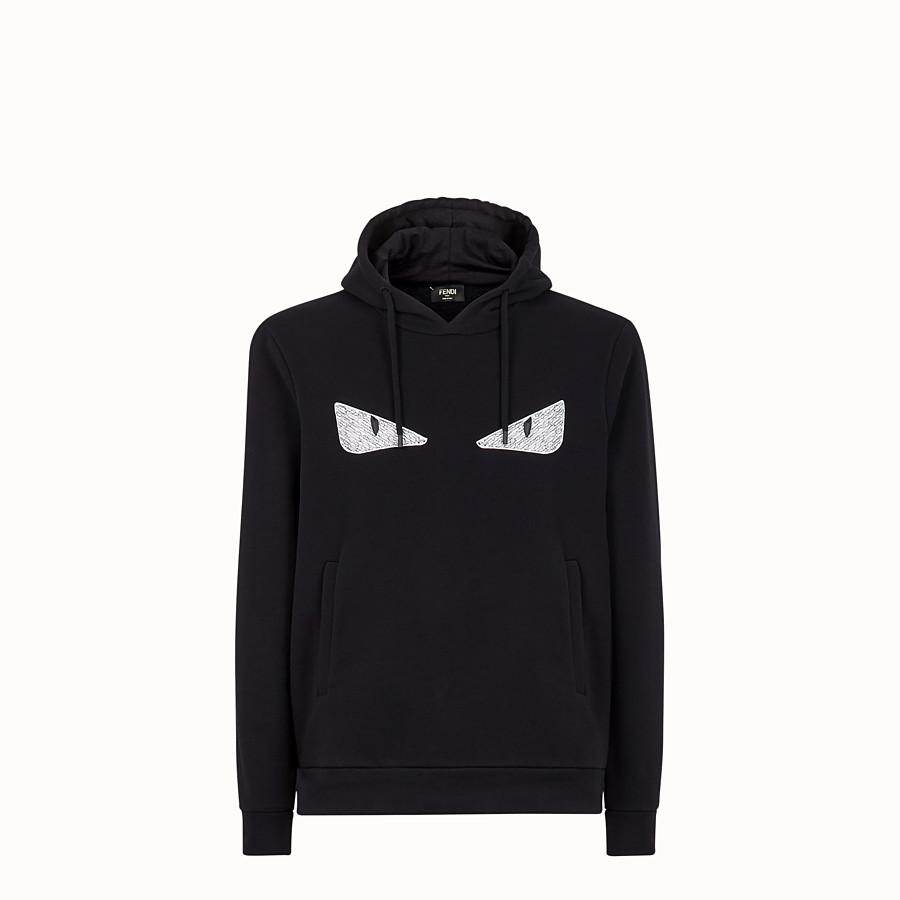 FENDI SWEATSHIRT - Black cotton sweatshirt - view 1 detail