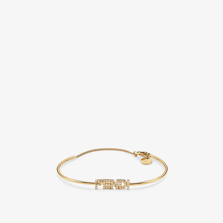 FENDI SIGNATURE BRACELET - Gold-colored bracelet - view 1 detail