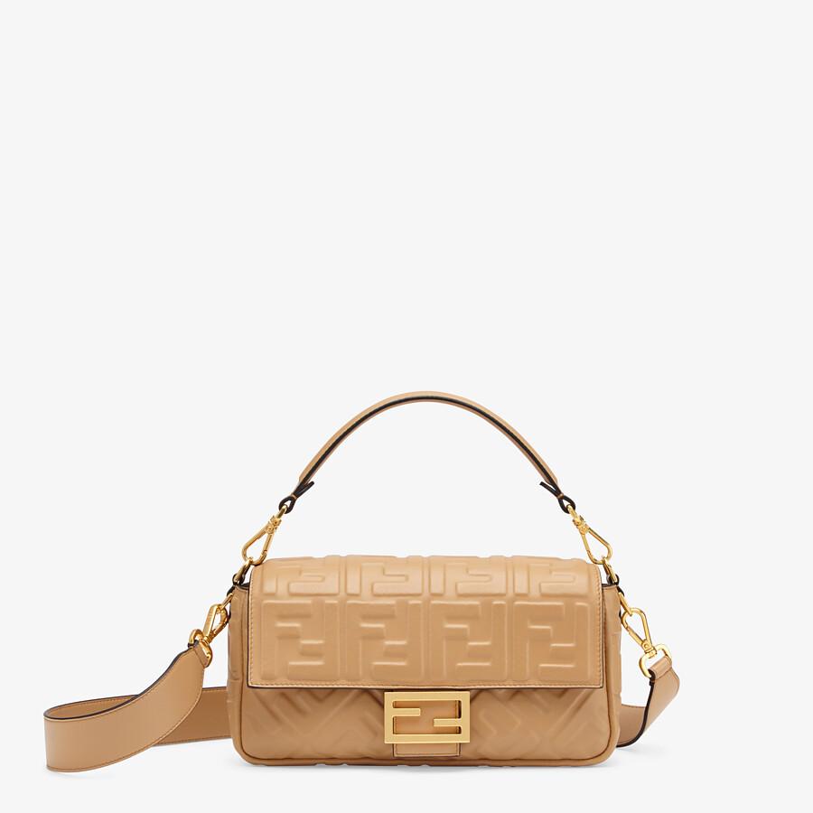 FENDI BAGUETTE - Light brown nappa leather bag - view 1 detail