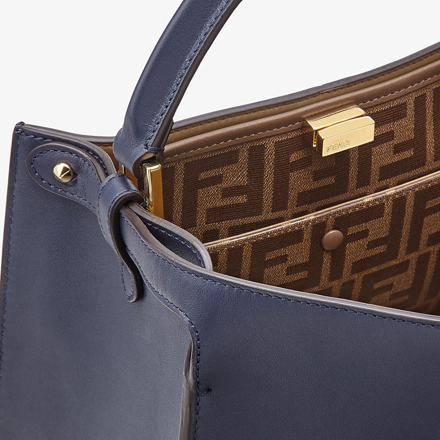 FENDI PEEKABOO X-LITE MEDIUM - Tasche aus Leder in Blau - view 6 detail