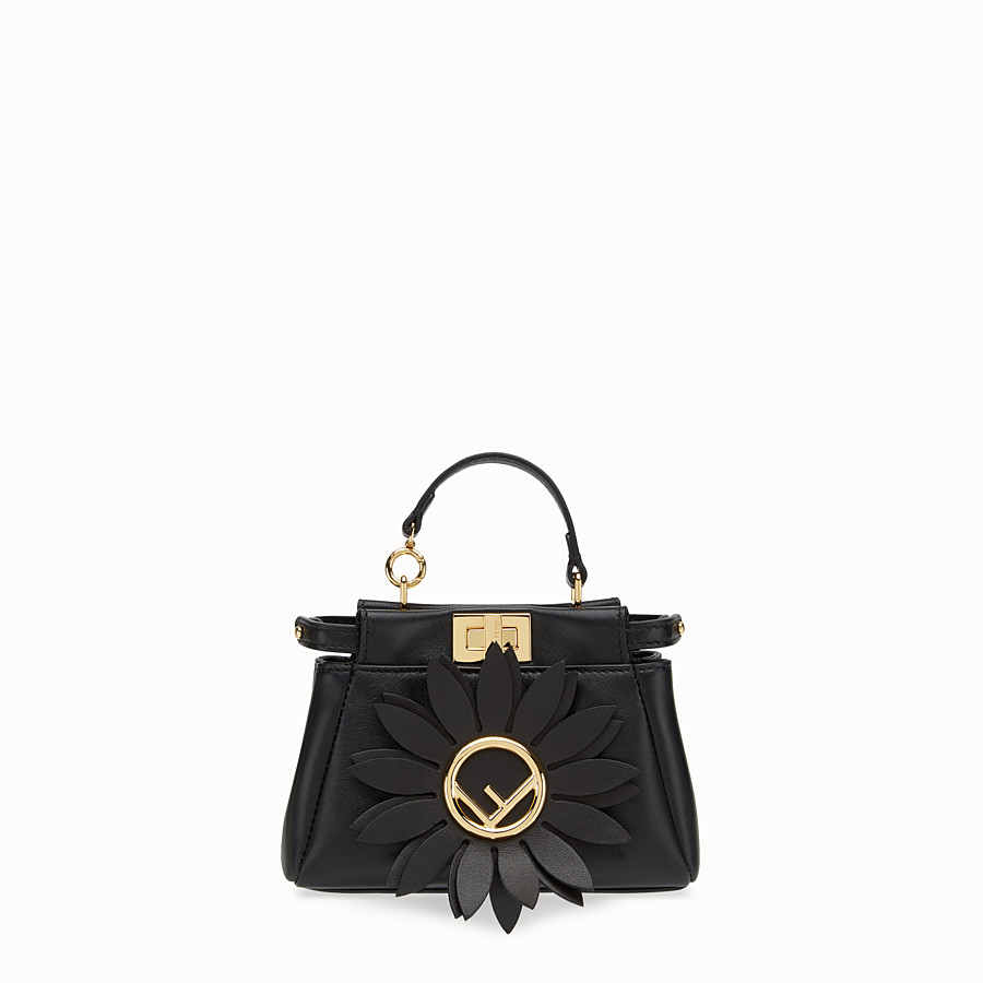 FENDI MICRO PEEKABOO - Black leather micro-bag - view 1 detail