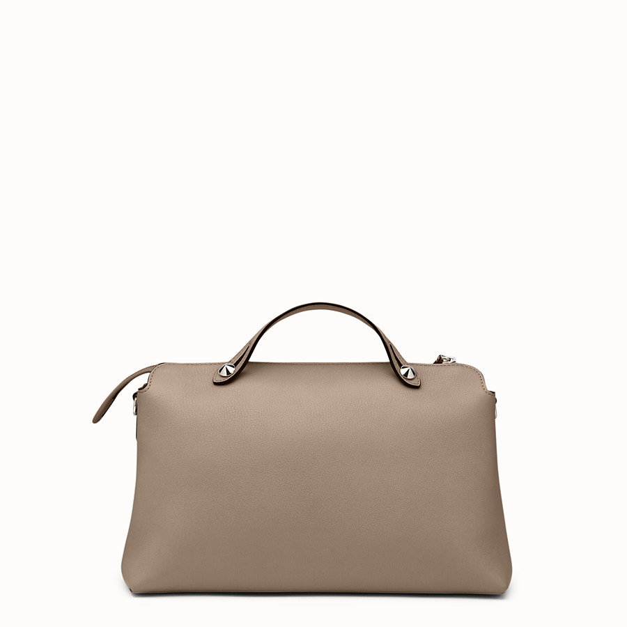 FENDI LARGE BY THE WAY - Boston bag in beige leather - view 3 detail