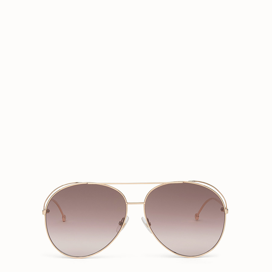 FENDI RUN AWAY - Copper-colour sunglasses - view 1 detail
