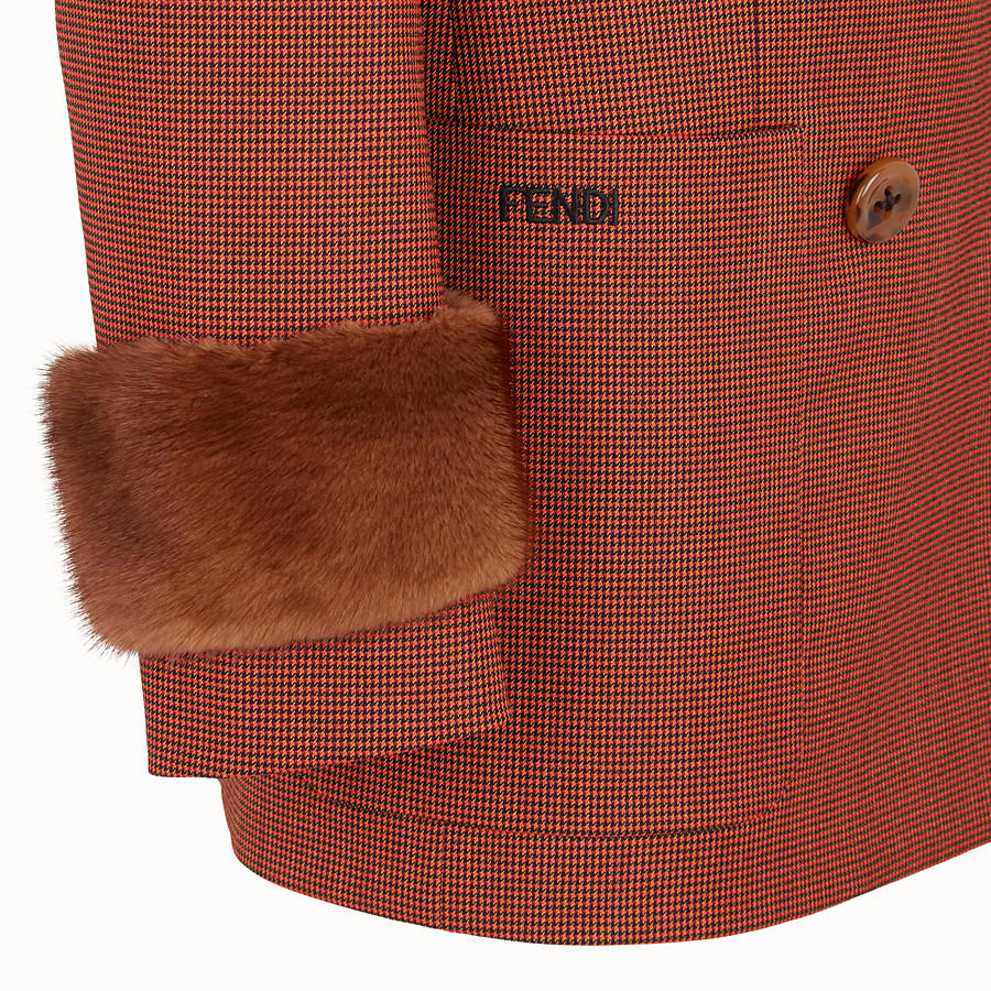 FENDI JACKE - Jacke aus Jacquard in Orange - view 3 detail