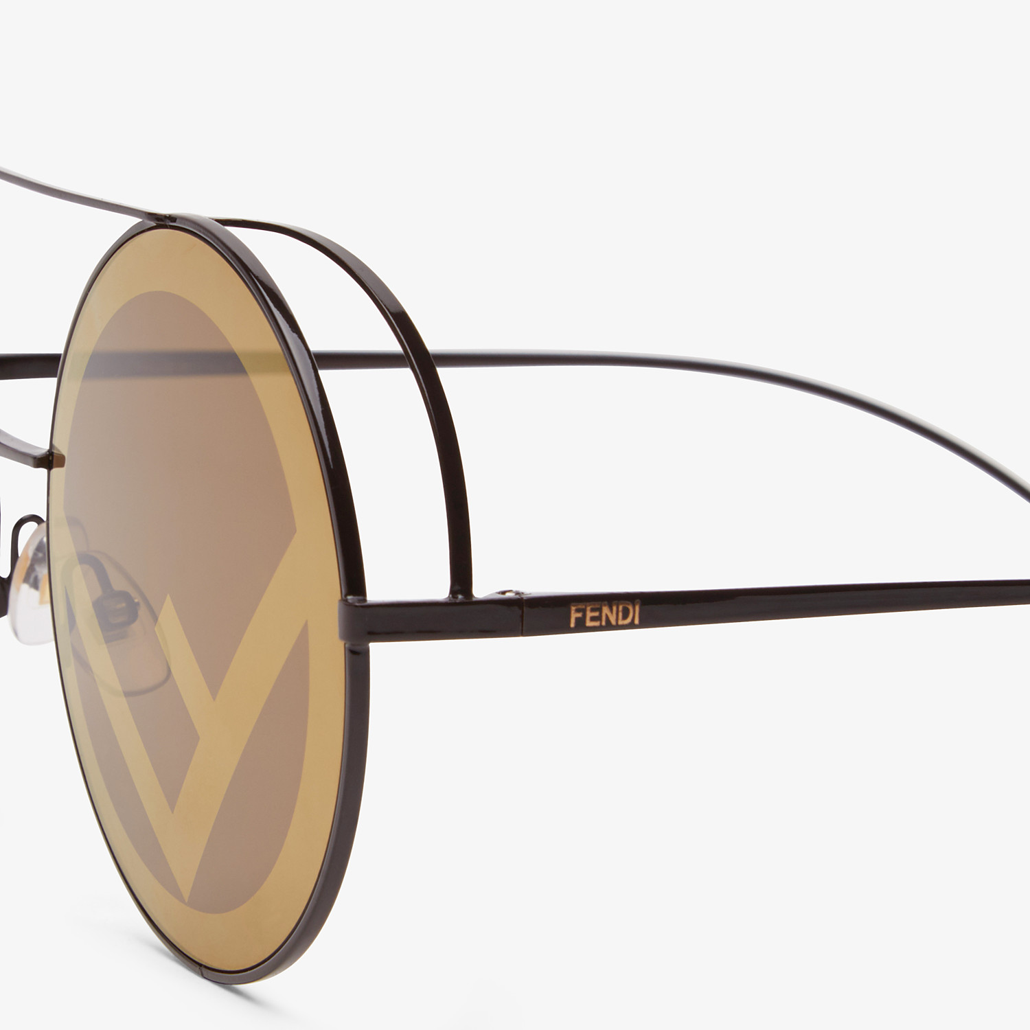 FENDI RUN AWAY - Brown sunglasses - view 3 detail