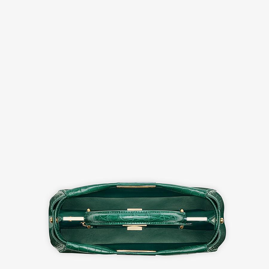 FENDI PEEKABOO MEDIUM - Emerald green crocodile leather handbag. - view 4 detail