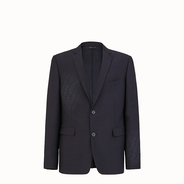 FENDI JACKET - Black wool blazer - view 1 small thumbnail