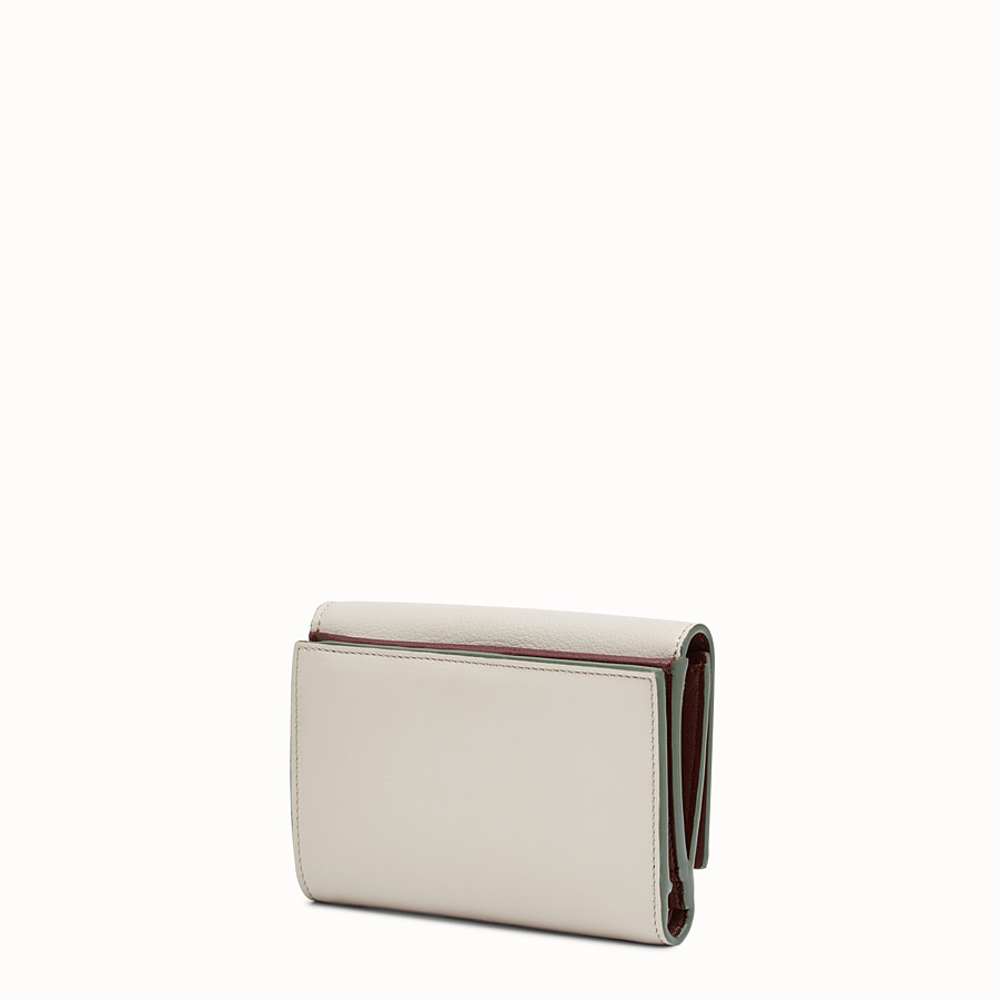 FENDI CONTINENTAL MEDIUM - Medium continental wallet in grey leather - view 2 detail