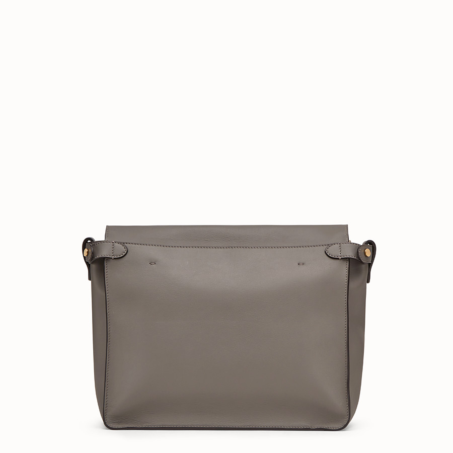 FENDI FENDI FLIP LARGE - Grey leather bag - view 4 detail