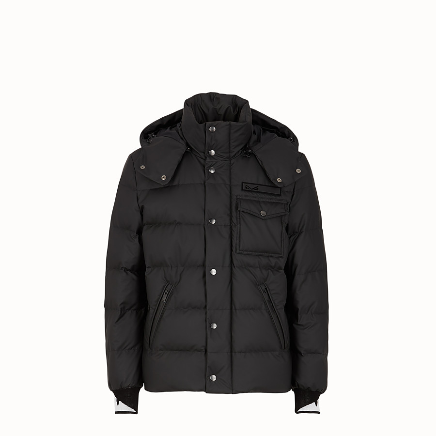 FENDI SKI JACKET - Black nylon down jacket - view 1 detail