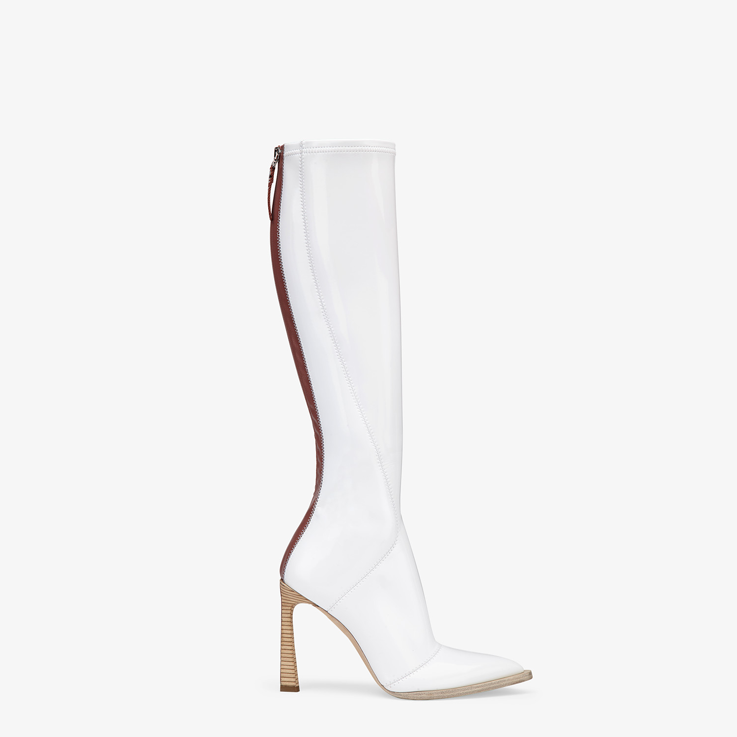 FENDI BOOTS - Boot in glossy white neoprene - view 1 detail