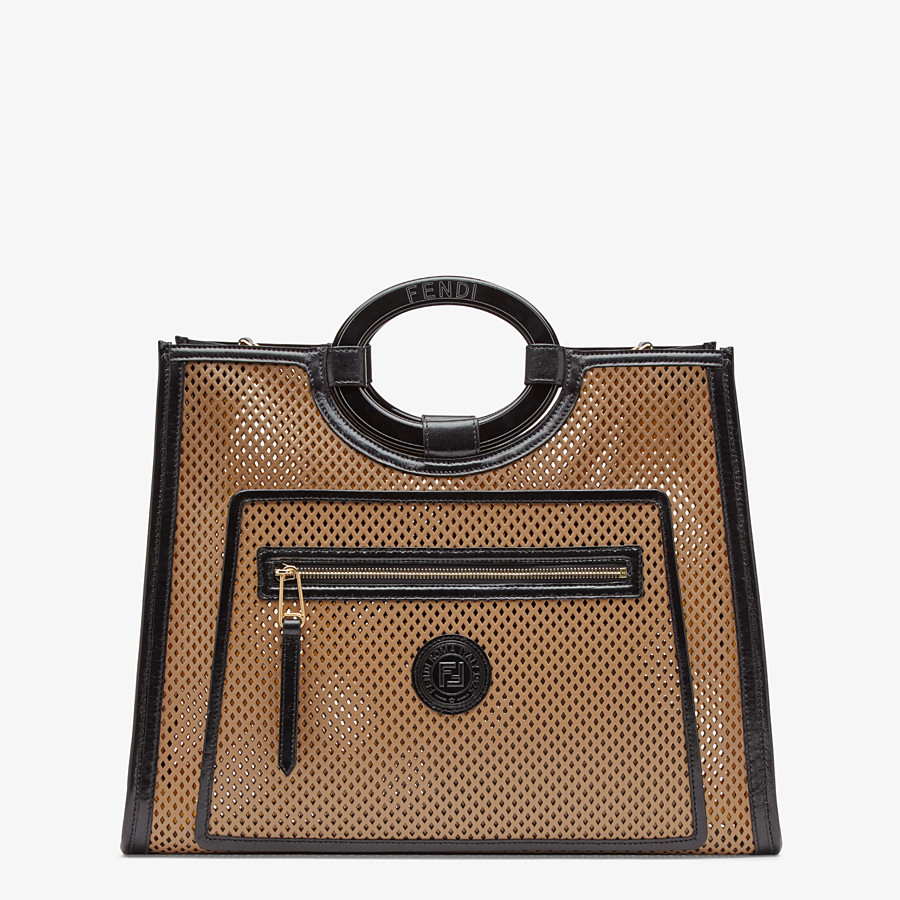 FENDI RUNAWAY SHOPPER - Beige leather shopper bag - view 1 detail