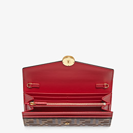 FENDI CONTINENTAL WITH CHAIN - Red leather wallet - view 4 thumbnail