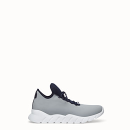 FENDI SNEAKER - Hoher Sneaker aus Stoff in Hellblau - view 1 thumbnail