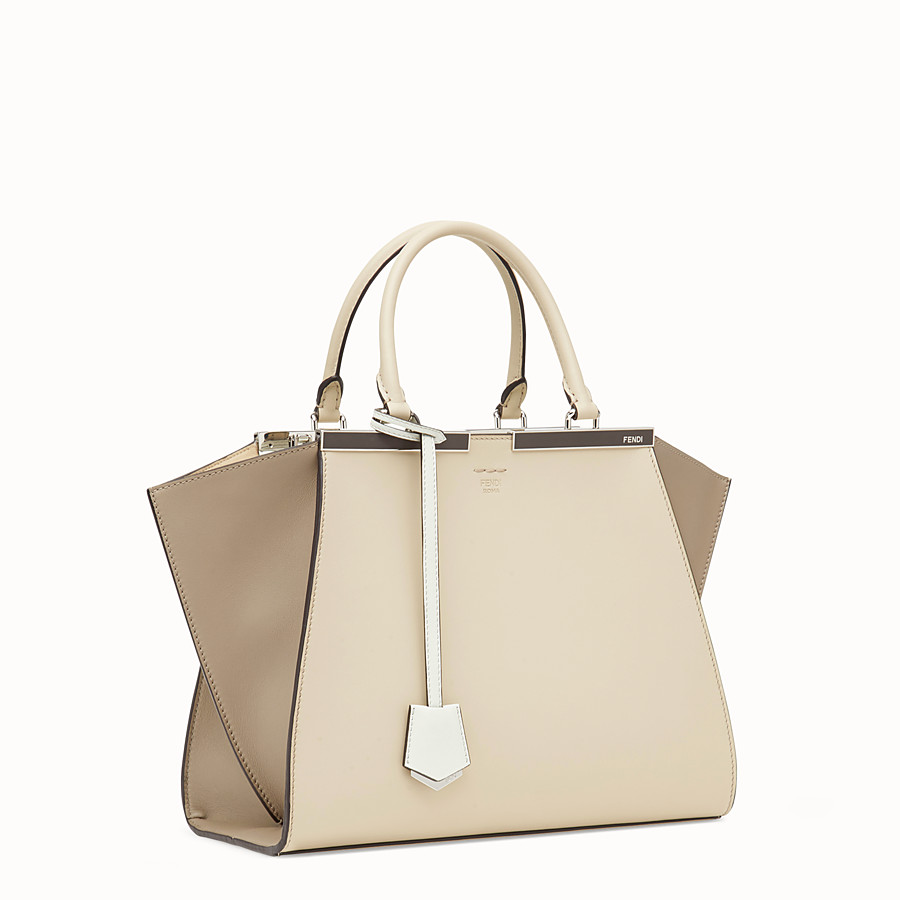 FENDI 3JOURS - Beige leather bag - view 2 detail