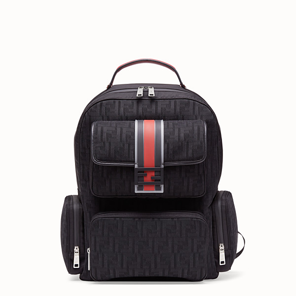 FENDI BACKPACK - Black tech fabric backpack - view 1 small thumbnail