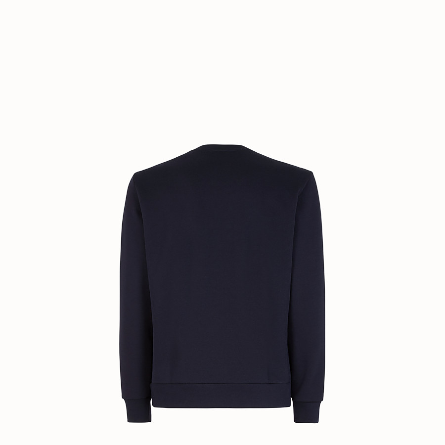 FENDI SWEAT-SHIRT - Sweat-shirt en coton bleu - view 2 detail