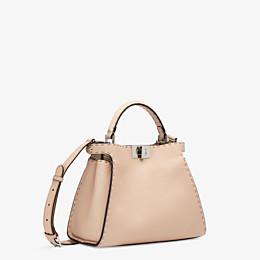 FENDI PEEKABOO ICONIC ESSENTIALLY - Pink leather bag - view 3 thumbnail