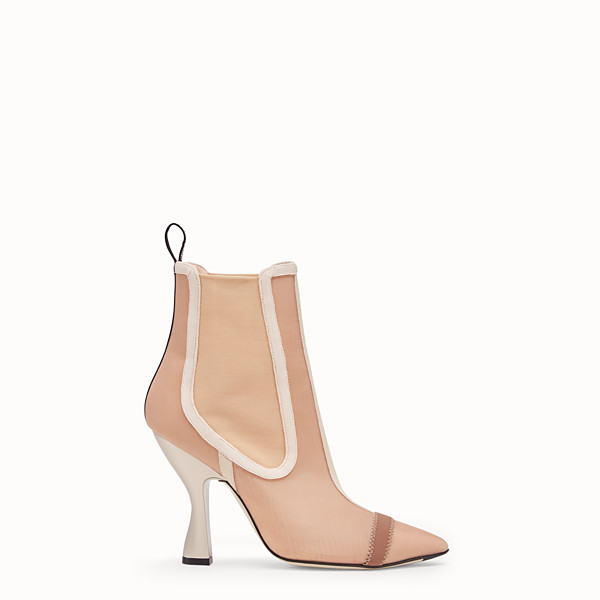 FENDI ANKLE BOOTS - Beige mesh booties - view 1 small thumbnail