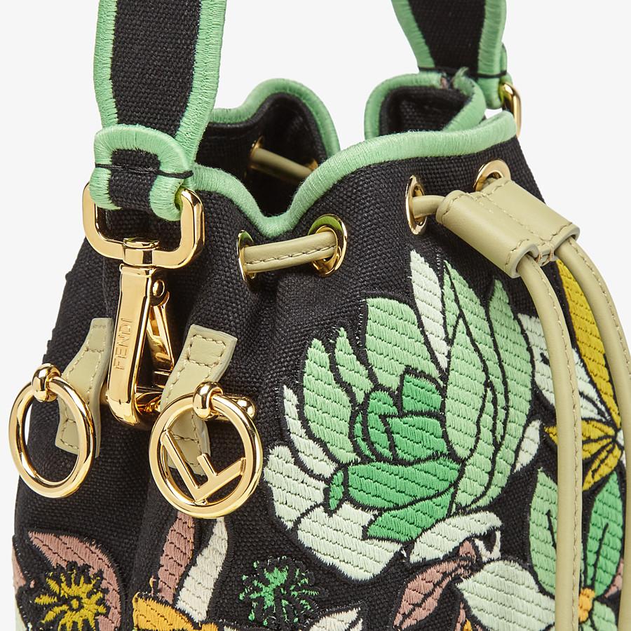 FENDI MON TRESOR - Black canvas mini bag - view 5 detail