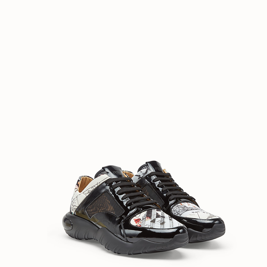 FENDI SNEAKERS - Multicolour fabric low top - view 3 detail