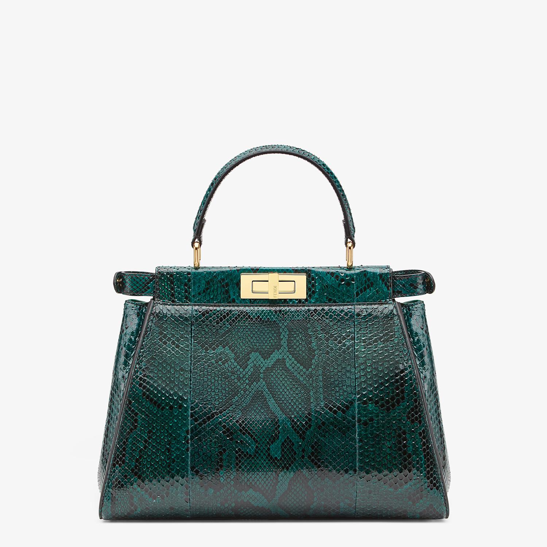 FENDI PEEKABOO ICONIC MEDIUM - Green python handbag. - view 3 detail