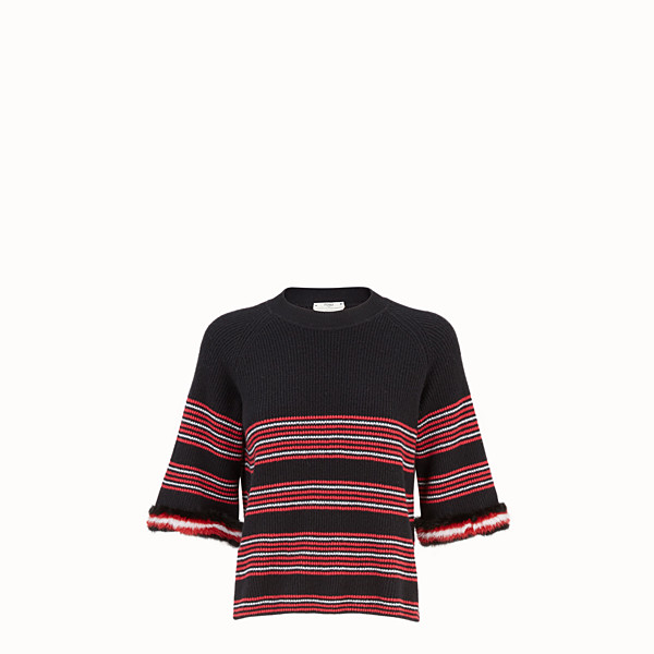 FENDI PULLOVER - Multicolour wool and cashmere jumper - view 1 small thumbnail