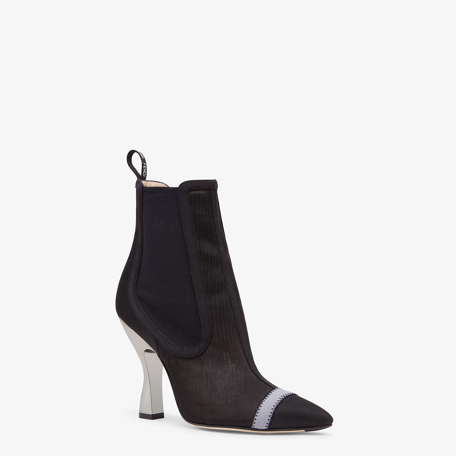 FENDI ANKLE BOOTS - Black mesh booties - view 2 detail