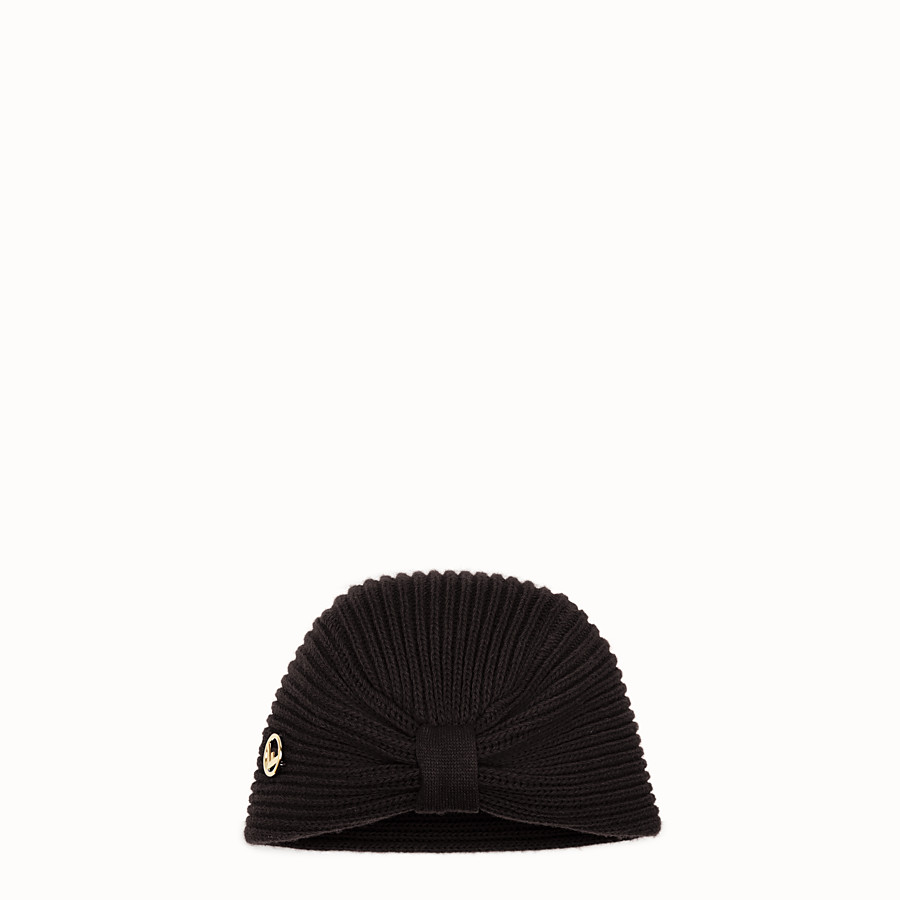 FENDI F IS FENDI HAT - Black wool hat - view 1 detail