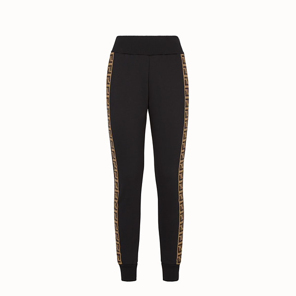 FENDI TROUSERS - Black fabric tracksuit trousers - view 1 small thumbnail