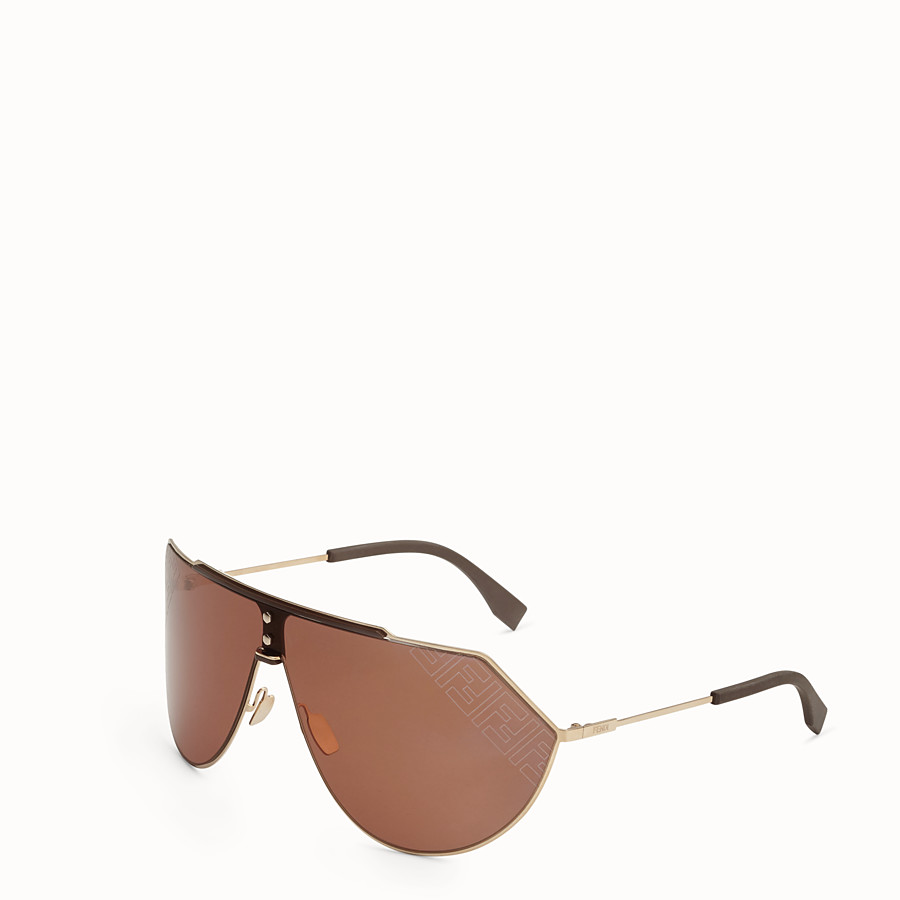 FENDI EYELINE 2.0 - Brown and gold sunglasses - view 2 detail